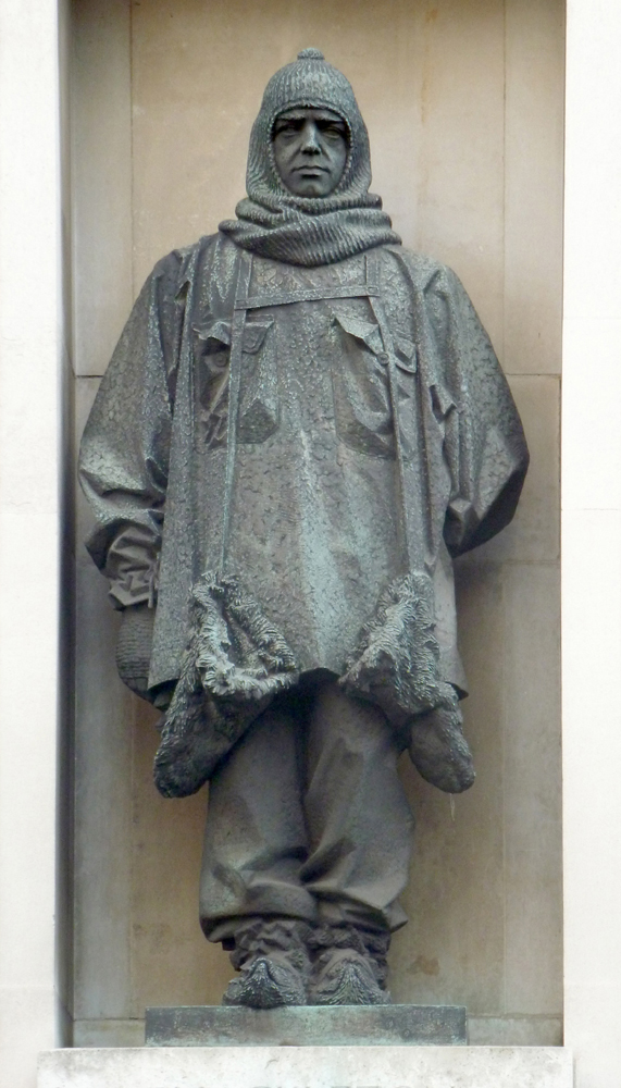 Charles Sergeant Jagger's bronze statue of Sir Ernest Shackleton, c.1932, Royal Geographical Society, London. Photo: © Rupert Shepherd