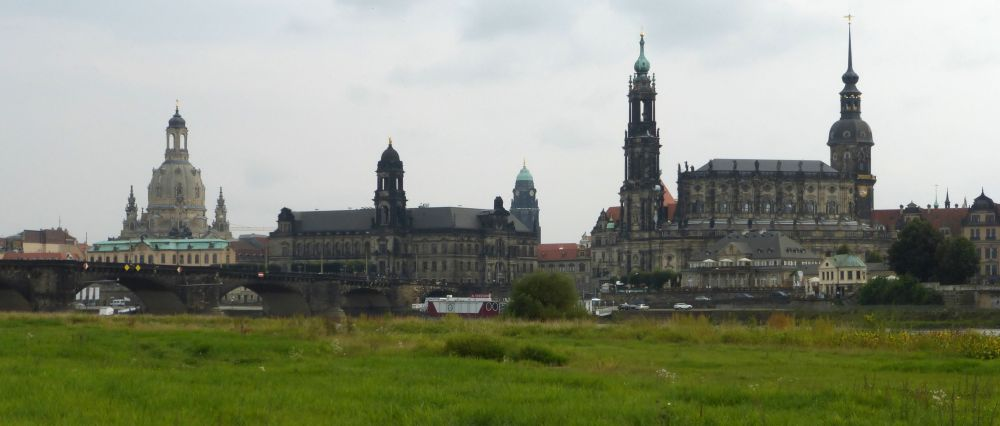 The Dresden skyline