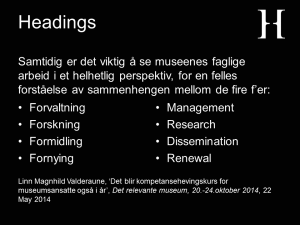 Relevance of documentation headings slide