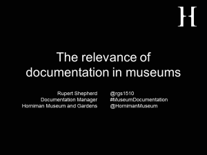 Relevance of documentation title slide
