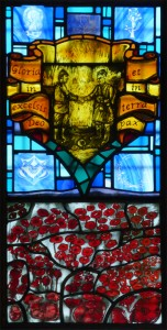 Kate Henderson, stained glass window commemorating the 1914 Christmas truce