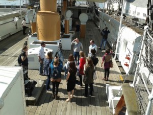 Collections People Stories review staff on an awayday to Chatham Historic Dockyard