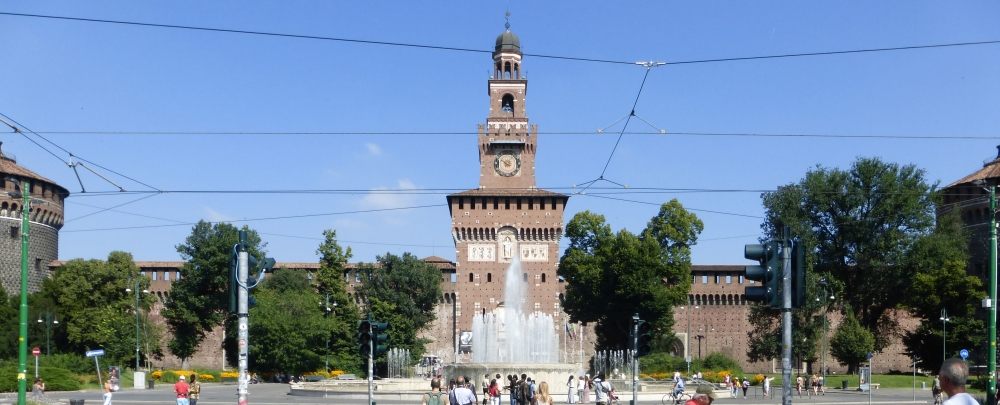 Torre del Filarete and south-east front of the Castello Sforzesco, Milan