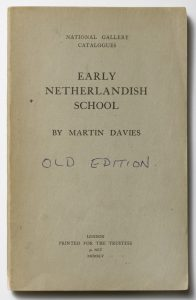 The front cover of a National Gallery 'schools' catalogue: Martin Davies, 'The Early Netherlandish School', 1945.