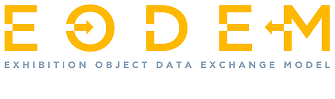 Logo for EODEM (Exhibition Object Data Exchange Model)